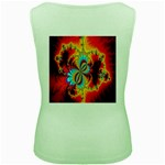 Crazy Mandelbrot Fractal Red Yellow Turquoise Women s Green Tank Top Back