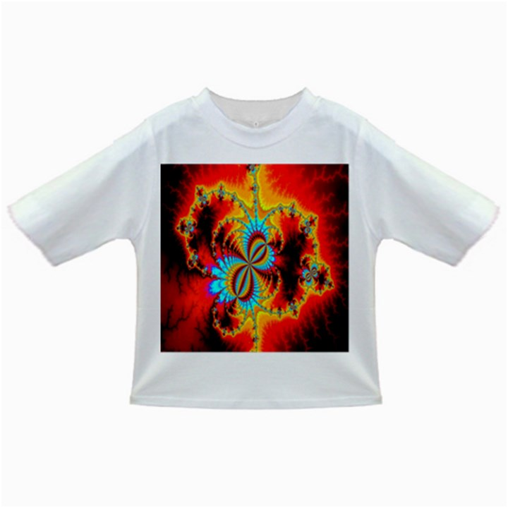 Crazy Mandelbrot Fractal Red Yellow Turquoise Infant/Toddler T-Shirts