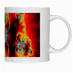 Crazy Mandelbrot Fractal Red Yellow Turquoise White Mugs Right