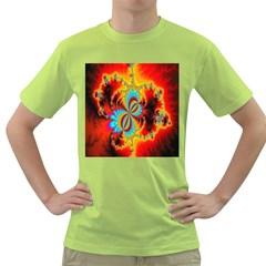 Crazy Mandelbrot Fractal Red Yellow Turquoise Green T Shirt