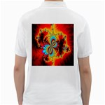 Crazy Mandelbrot Fractal Red Yellow Turquoise Golf Shirts Back