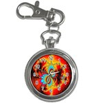 Crazy Mandelbrot Fractal Red Yellow Turquoise Key Chain Watches Front