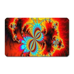 Crazy Mandelbrot Fractal Red Yellow Turquoise Magnet (rectangular)