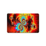 Crazy Mandelbrot Fractal Red Yellow Turquoise Magnet (Name Card) Front