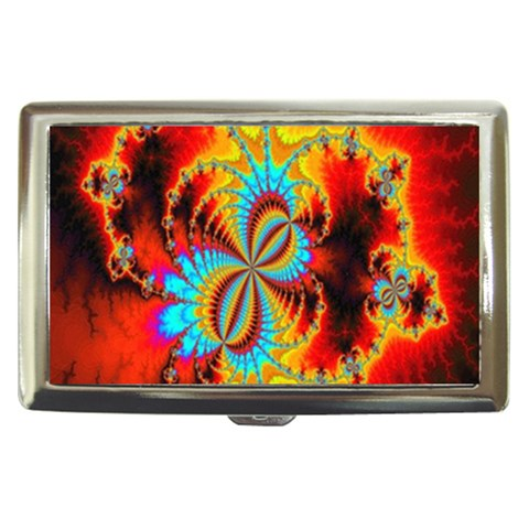 Crazy Mandelbrot Fractal Red Yellow Turquoise Cigarette Money Cases