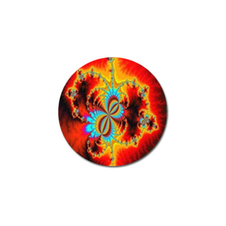 Crazy Mandelbrot Fractal Red Yellow Turquoise Golf Ball Marker (10 pack)