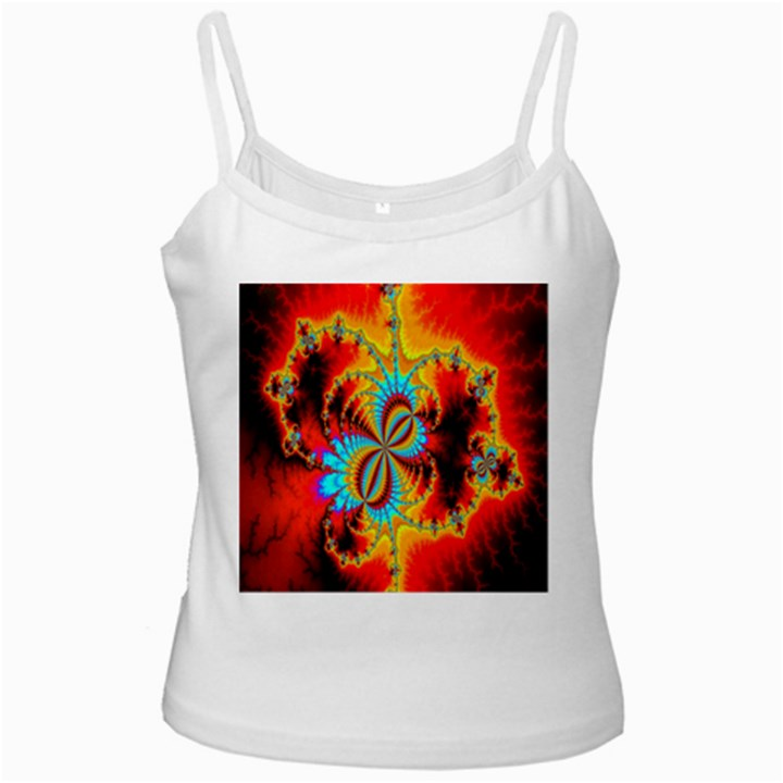 Crazy Mandelbrot Fractal Red Yellow Turquoise Ladies Camisoles