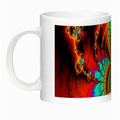 Crazy Mandelbrot Fractal Red Yellow Turquoise Night Luminous Mugs
