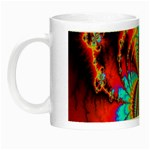 Crazy Mandelbrot Fractal Red Yellow Turquoise Night Luminous Mugs Left