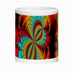 Crazy Mandelbrot Fractal Red Yellow Turquoise Night Luminous Mugs Center