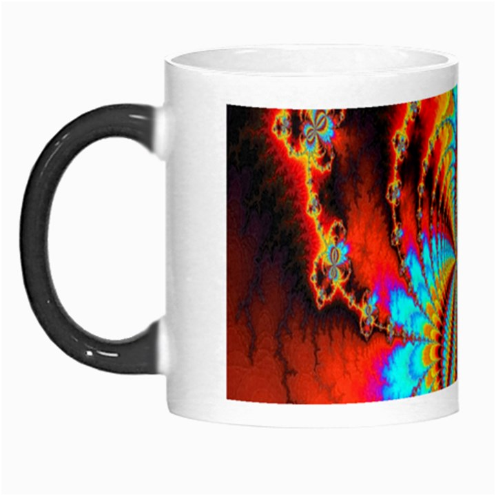 Crazy Mandelbrot Fractal Red Yellow Turquoise Morph Mugs