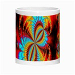Crazy Mandelbrot Fractal Red Yellow Turquoise Morph Mugs Center