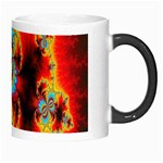 Crazy Mandelbrot Fractal Red Yellow Turquoise Morph Mugs Right