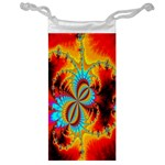 Crazy Mandelbrot Fractal Red Yellow Turquoise Jewelry Bags Front