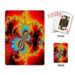 Crazy Mandelbrot Fractal Red Yellow Turquoise Playing Card Back