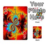 Crazy Mandelbrot Fractal Red Yellow Turquoise Playing Cards 54 Designs  Front - Heart6