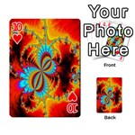 Crazy Mandelbrot Fractal Red Yellow Turquoise Playing Cards 54 Designs  Front - Heart10