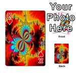 Crazy Mandelbrot Fractal Red Yellow Turquoise Playing Cards 54 Designs  Front - HeartK
