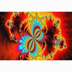 Crazy Mandelbrot Fractal Red Yellow Turquoise Collage Prints 18 x12 Print - 1