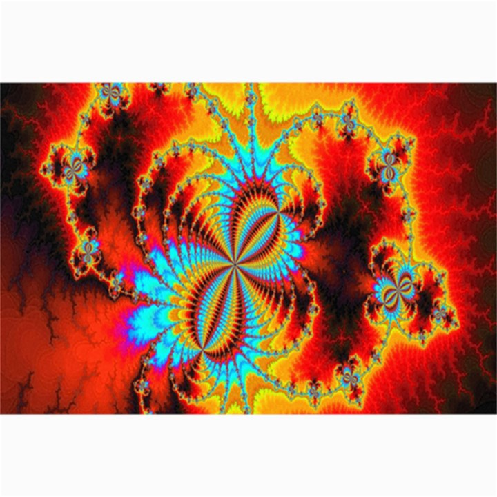 Crazy Mandelbrot Fractal Red Yellow Turquoise Collage Prints