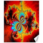 Crazy Mandelbrot Fractal Red Yellow Turquoise Canvas 8  x 10  10.02 x8 Canvas - 1