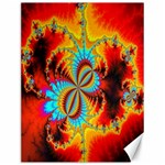 Crazy Mandelbrot Fractal Red Yellow Turquoise Canvas 12  x 16   16 x12 Canvas - 1