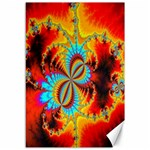 Crazy Mandelbrot Fractal Red Yellow Turquoise Canvas 12  x 18   18 x12 Canvas - 1