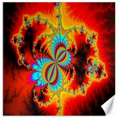Crazy Mandelbrot Fractal Red Yellow Turquoise Canvas 20  X 20