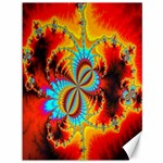 Crazy Mandelbrot Fractal Red Yellow Turquoise Canvas 36  x 48   48 x36 Canvas - 1