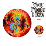 Crazy Mandelbrot Fractal Red Yellow Turquoise Playing Cards 54 (Round)  Front - Joker2