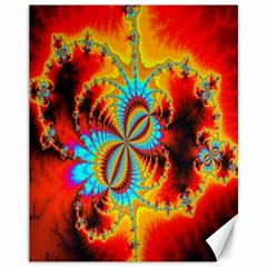 Crazy Mandelbrot Fractal Red Yellow Turquoise Canvas 11  X 14