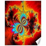 Crazy Mandelbrot Fractal Red Yellow Turquoise Canvas 11  x 14   14 x11 Canvas - 1