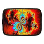 Crazy Mandelbrot Fractal Red Yellow Turquoise Netbook Case (Medium)  Front