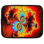 Crazy Mandelbrot Fractal Red Yellow Turquoise Netbook Case (Large) Front