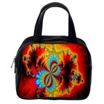 Crazy Mandelbrot Fractal Red Yellow Turquoise Classic Handbags (One Side) Front