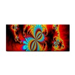 Crazy Mandelbrot Fractal Red Yellow Turquoise Hand Towel Front