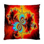 Crazy Mandelbrot Fractal Red Yellow Turquoise Standard Cushion Case (One Side) Front