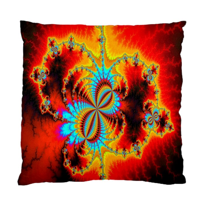 Crazy Mandelbrot Fractal Red Yellow Turquoise Standard Cushion Case (Two Sides)