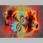 Crazy Mandelbrot Fractal Red Yellow Turquoise Mini Canvas 6  x 4  6  x 4  x 0.875  Stretched Canvas