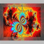 Crazy Mandelbrot Fractal Red Yellow Turquoise Canvas 10  x 8  10  x 8  x 0.875  Stretched Canvas