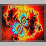 Crazy Mandelbrot Fractal Red Yellow Turquoise Canvas 20  x 16  20  x 16  x 0.875  Stretched Canvas