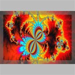 Crazy Mandelbrot Fractal Red Yellow Turquoise Canvas 18  x 12  18  x 12  x 0.875  Stretched Canvas
