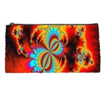 Crazy Mandelbrot Fractal Red Yellow Turquoise Pencil Cases Front