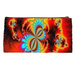 Crazy Mandelbrot Fractal Red Yellow Turquoise Pencil Cases Back