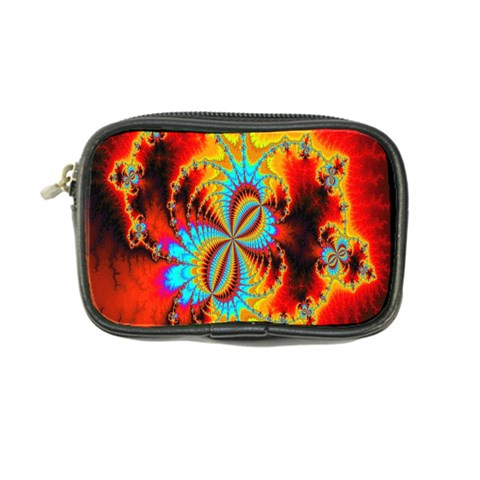 Crazy Mandelbrot Fractal Red Yellow Turquoise Coin Purse