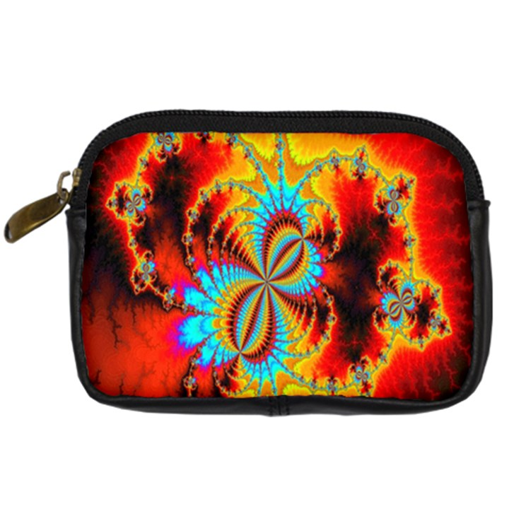 Crazy Mandelbrot Fractal Red Yellow Turquoise Digital Camera Cases