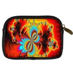 Crazy Mandelbrot Fractal Red Yellow Turquoise Digital Camera Cases Back