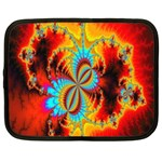 Crazy Mandelbrot Fractal Red Yellow Turquoise Netbook Case (XXL)  Front