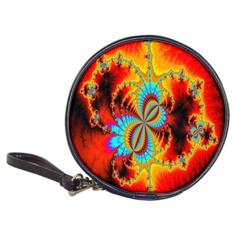 Crazy Mandelbrot Fractal Red Yellow Turquoise Classic 20-CD Wallets