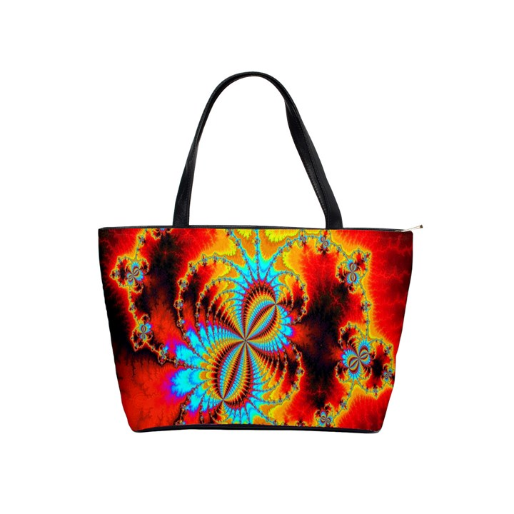 Crazy Mandelbrot Fractal Red Yellow Turquoise Shoulder Handbags
